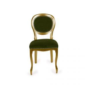 Scaun clasic auriu verde