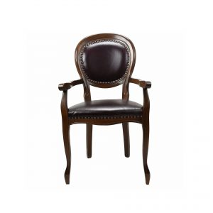 Classical natural leather chair or living room