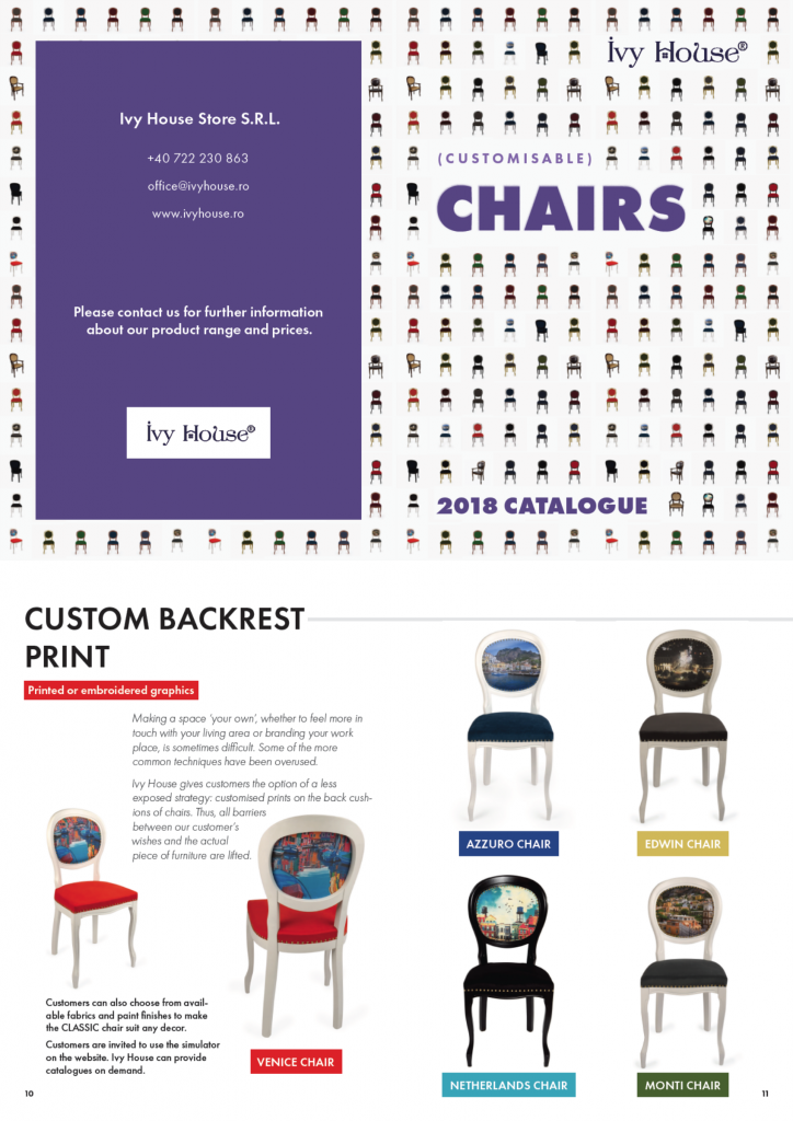 Ivy House Chairs Catalogue 2018